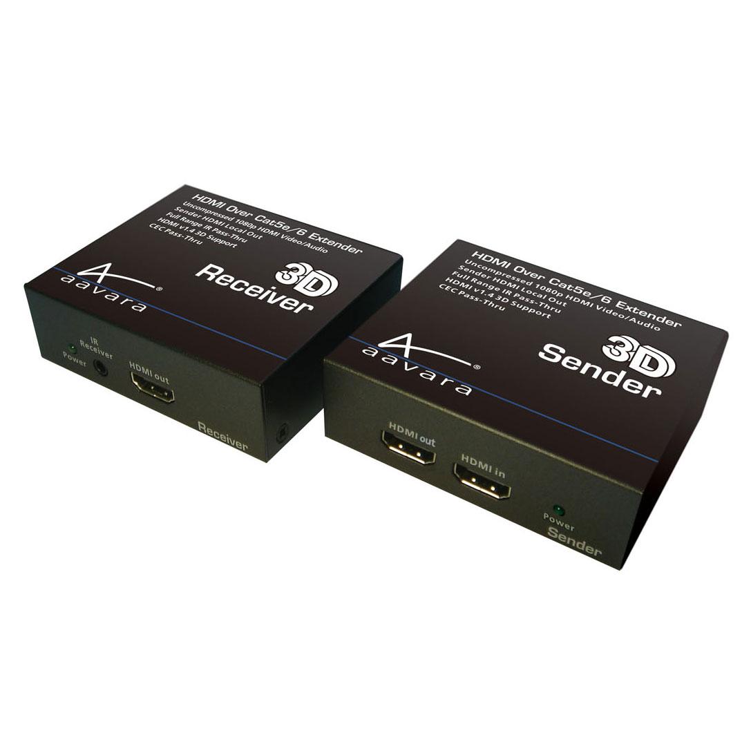 HDMI Aavara PE121A Emetteur + récepteur HDMI 1.4 sur câble Ethernet CAT5e/6/7