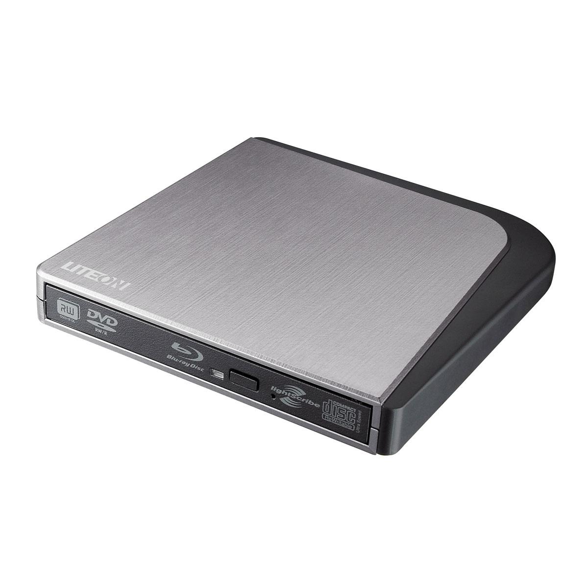 Lecteur graveur Lite-On eSEU206-04 Lecteur Blu-Ray Graveur DVD(+/-)RW/RAM 6/8/8/8/6/5x DL(+/-) 6/6x CD-RW 24/24/24x Slim externe Noir - USB 2.0