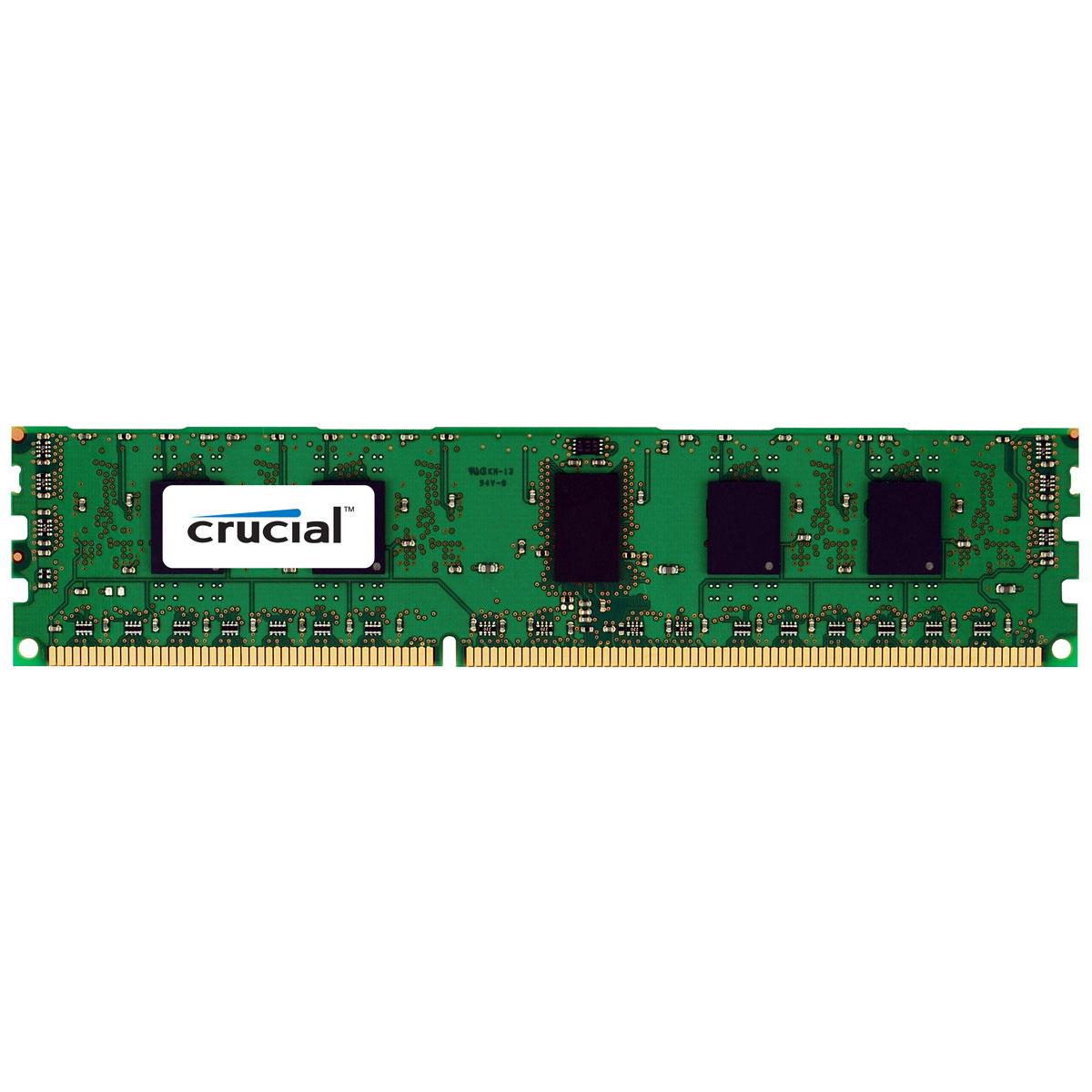 Mémoire PC Crucial DDR3 8 Go 1066 MHz CL7 ECC Registered QR X8 RAM DDR3 PC3-8500 - CT8G3ERSLQ81067 (garantie à vie par Crucial)
