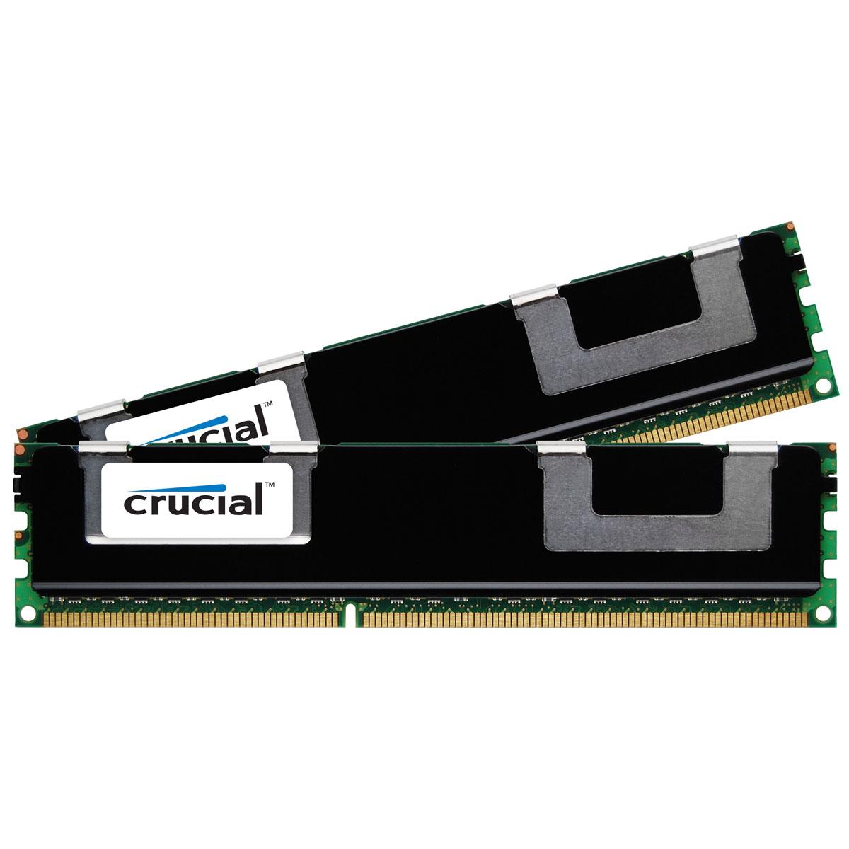 Mémoire PC Crucial DDR3 8 Go (2 x 4 Go) 1866 MHz CL13 ECC Registered DR X8 Kit Dual Channel RAM DDR3 PC14900 - CT2K4G3ERSDD8186D (garantie à vie par Crucial)