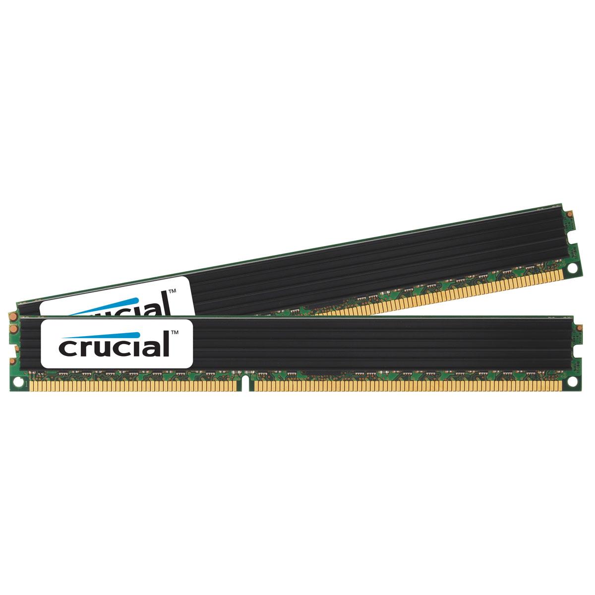 Mémoire PC Crucial DDR3 8 Go (2 x 4 Go) 1333 MHz CL9 ECC Registered SR VLP X4 Kit Dual Channel RAM DDR3 PC10600 - CT2K4G3ERVLS41339 (garantie à vie par Crucial)