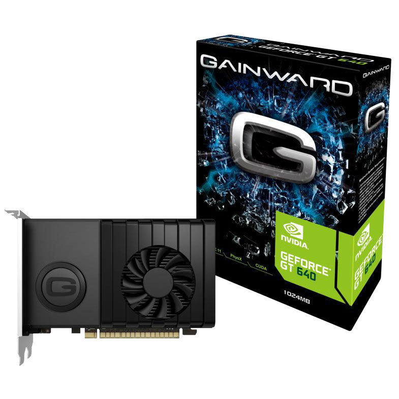 Carte graphique Gainward GeForce GT 640 1024MB 1 Go HDMI/DVI - PCI Express (NVIDIA GeForce avec CUDA GT 640)