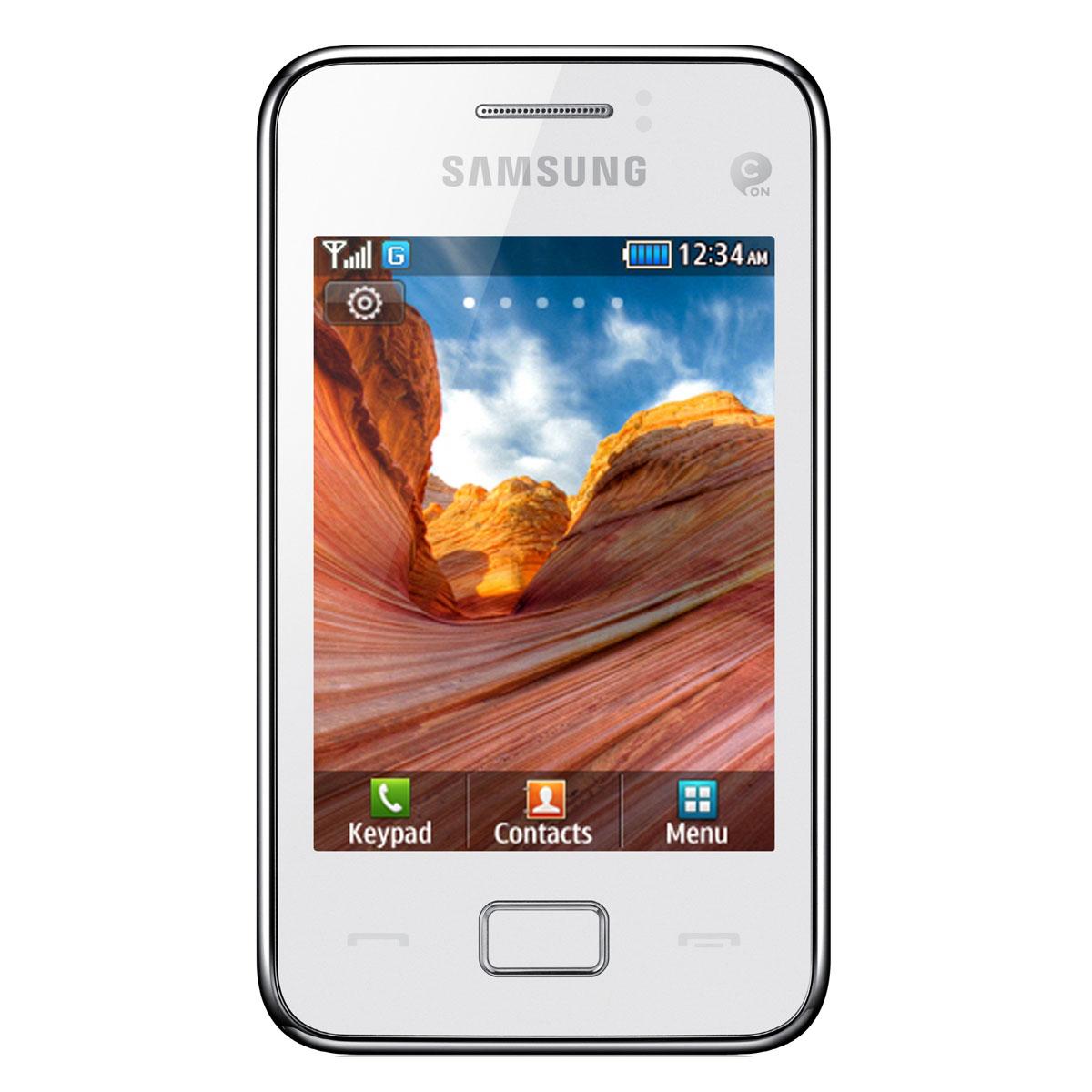 Mobile & smartphone Samsung Star 3 Duos GT-S5222 Blanc Téléphone 2G avec 2 ports pour cartes SIM