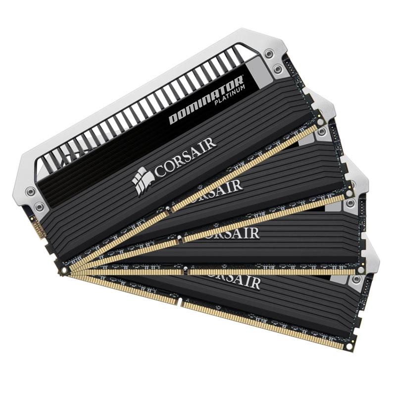 Mémoire PC Corsair Dominator Platinum 16 Go (4 x 4Go) DDR3 2800 MHz CL12 Kit Quad Channel RAM DDR3 PC3-22400 - CMD16GX3M4A2800C12 (garantie à vie par Corsair)