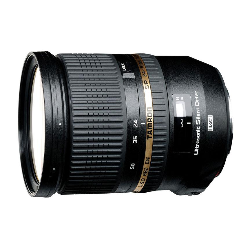 Objectif appareil photo Tamron SP 24-70 mm F/2,8 Di VC USD monture Canon Tamron SP 24-70 mm F/2,8 Di VC USD monture Canon