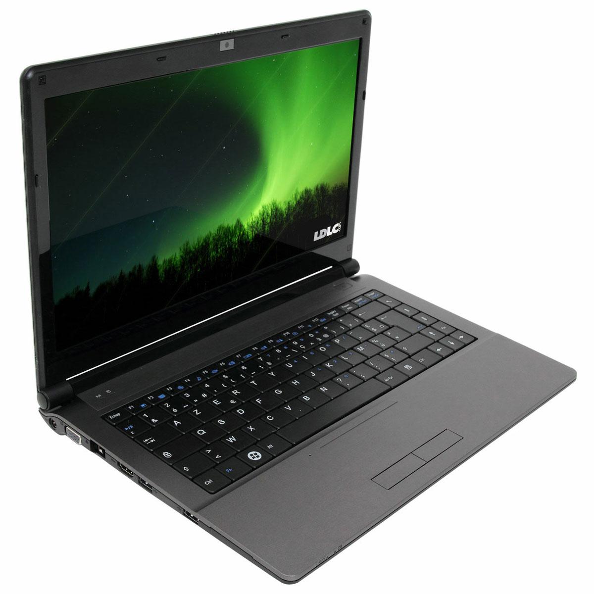 """PC portable LDLC Aurore BS2-I3-4-H2-P Intel Core i3-2310M 4 Go 320 Go 14"""" LED Graveur DVD Wi-Fi N/Bluetooth Webcam Windows 7 Professionnel 64 bits"""