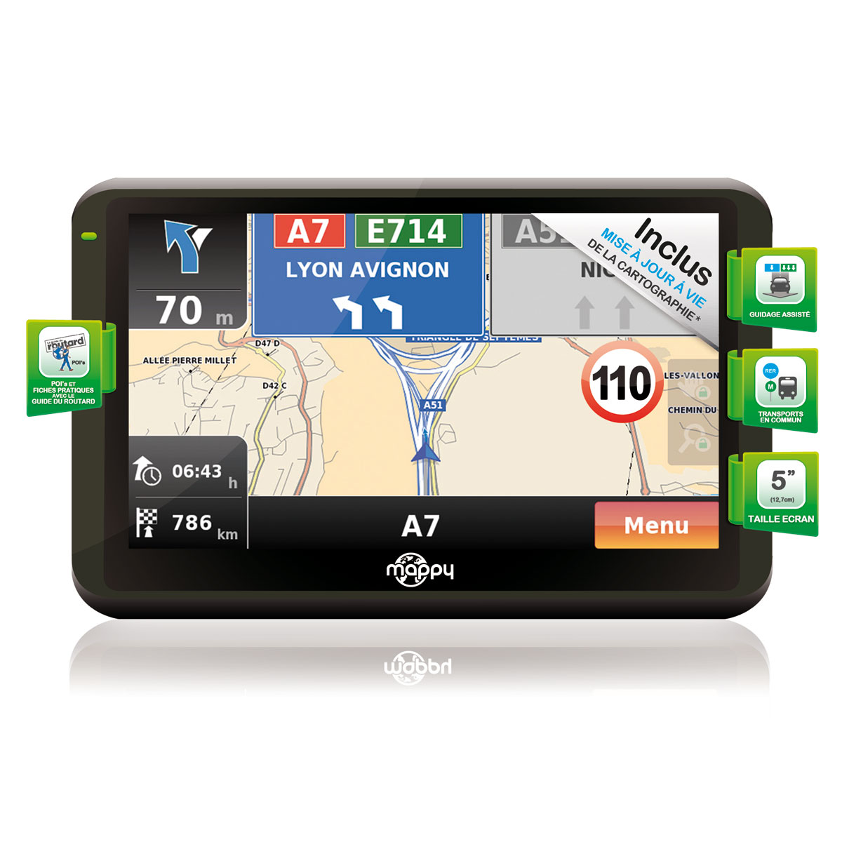 carte d'europe pour gps mappy