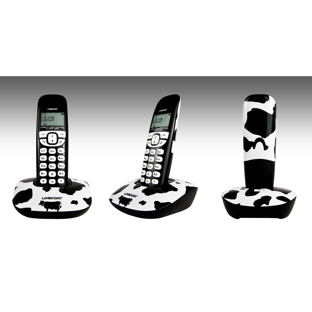 logicom soly 150 art vache t l phone sans fil logicom sur ldlc. Black Bedroom Furniture Sets. Home Design Ideas