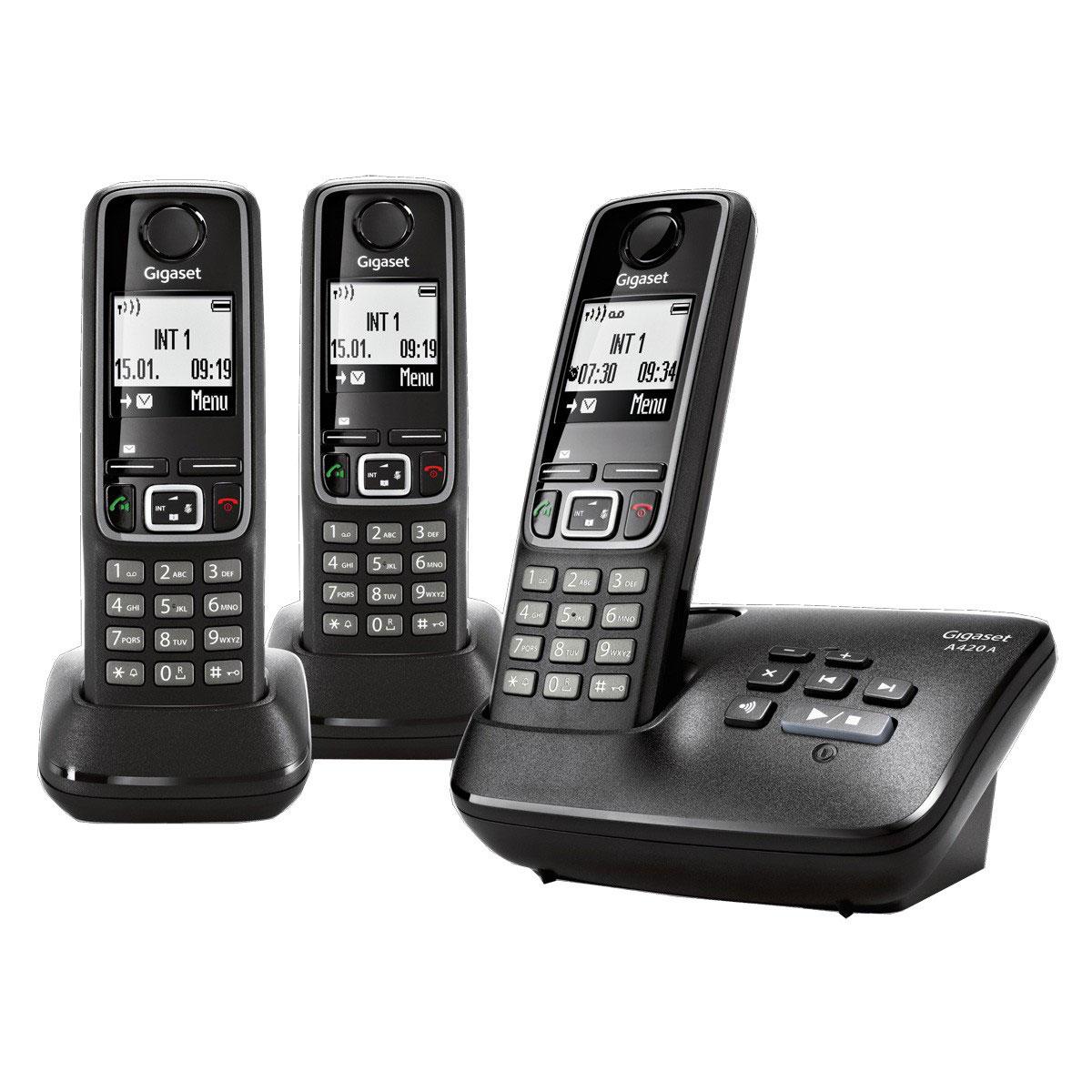 gigaset a420a trio t l phone sans fil gigaset sur ldlc. Black Bedroom Furniture Sets. Home Design Ideas