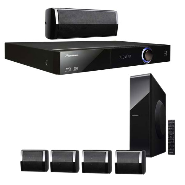 Ensemble home cinéma Pioneer BCS-323 Ensemble Home Cinéma 5.1 Blu-ray 3D DLNA avec sortie HDMI 1080p