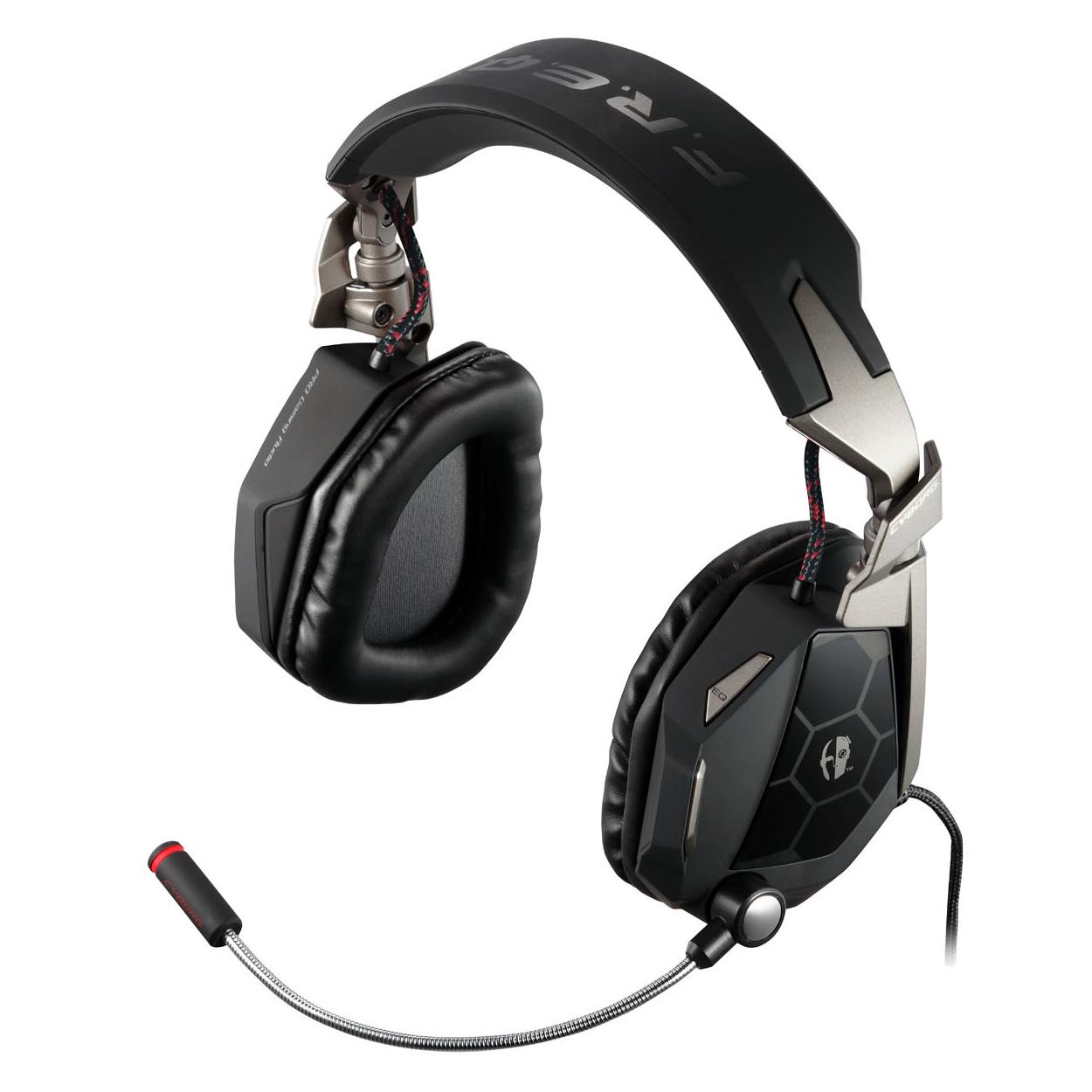 Micro-casque Mad Catz F.R.E.Q. 5 (FREQ 5) Matte Black Casque-micro pour gamer (USB/Jack) - (coloris noir mat)