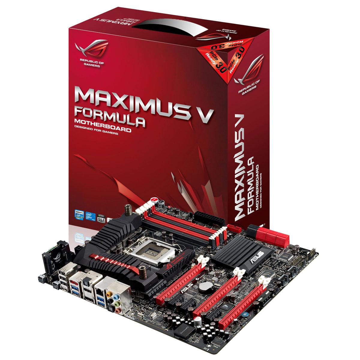 Carte mère ASUS Maximus V Formula Carte mère E-ATX Socket 1155 Intel Z77 Express - SATA 6Gb/s - USB 3.0 - 3x PCI-Express 3.0 16x