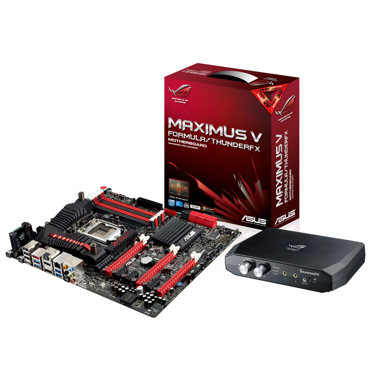 Carte mère ASUS Maximus V Formula/ThunderFX Carte mère E-ATX Socket 1155 Intel Z77 Express - SATA 6Gb/s - USB 3.0 - 3x PCI-Express 3.0 16x