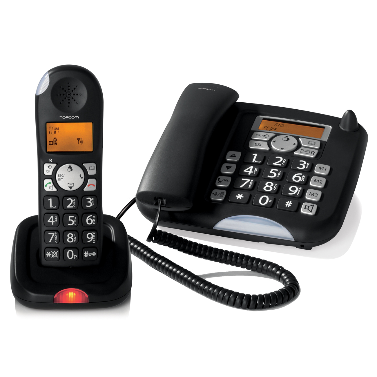 Téléphone filaire Topcom Butler 901 Combo Téléphone filaire + téléphone sans fil DECT