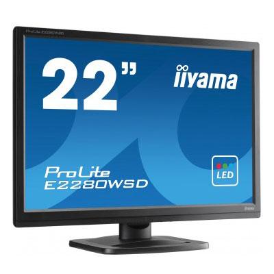"Ecran PC iiyama 22"" LED - ProLite E2280WSD-B1 1680 x 1050 - 5 ms - Format large 16:10 - Noir"