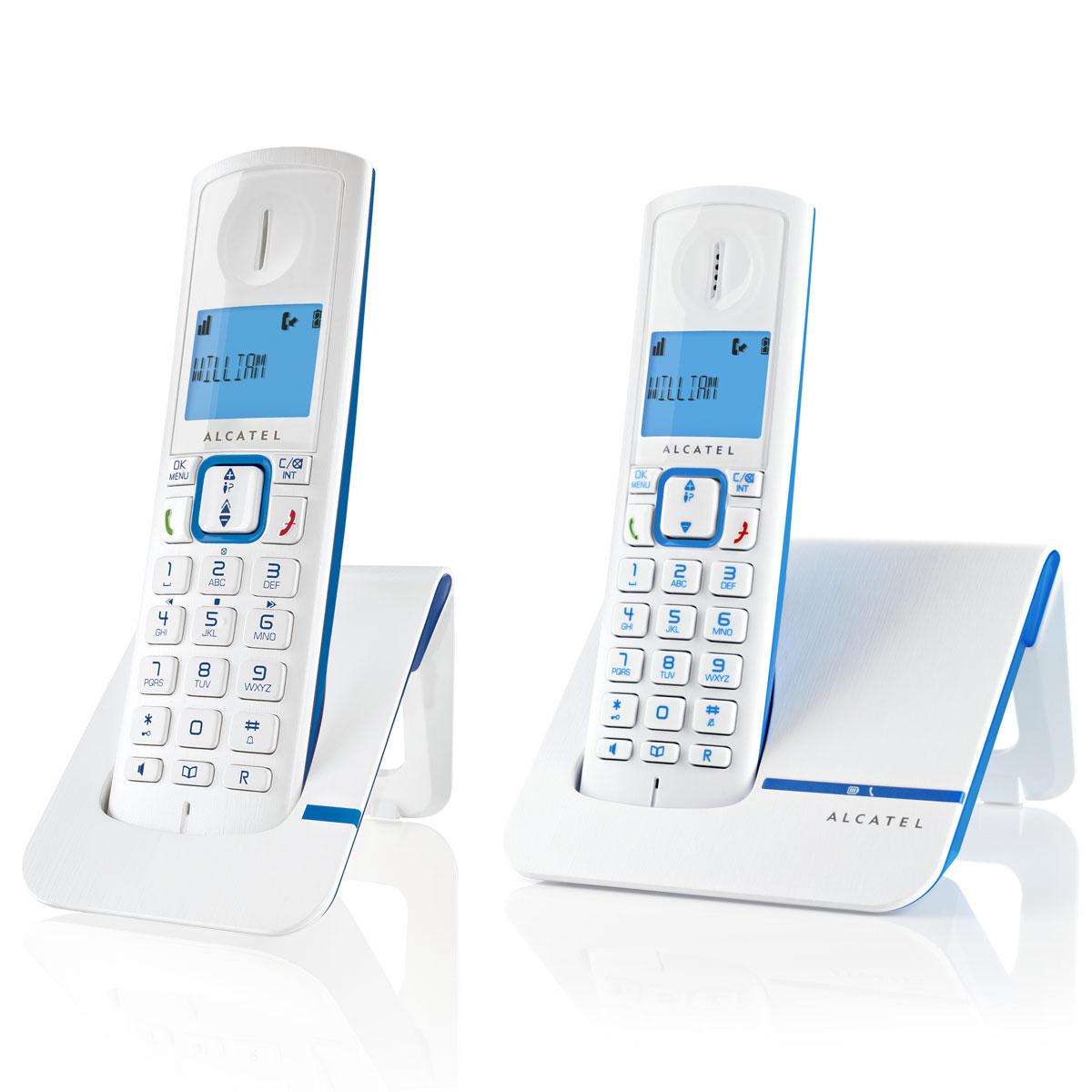 Téléphone sans fil Alcatel Versatis F230 Duo Bleu Téléphone DECT sans fil (version française)