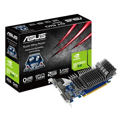 Carte graphique ASUS GT610-SL-2GD3-L 2 GB 2 Go HDMI/DVI - PCI Express (NVIDIA GeForce avec CUDA GT 610) - (garantie 3 ans)