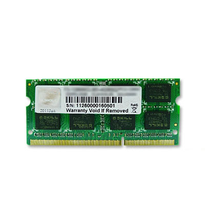 Mémoire PC portable G.Skill SO-DIMM 8 Go DDR3 1600 MHz CL11 RAM SO-DIMM DDR3 PC3-12800 - F3-1600C11S-8GSQ (garantie à vie par G.Skill)