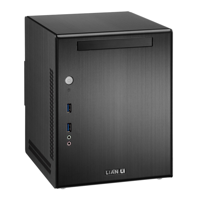 Boîtier PC Lian Li PC-Q03 (noir) Boitier mini-tour en aluminium (coloris noir)