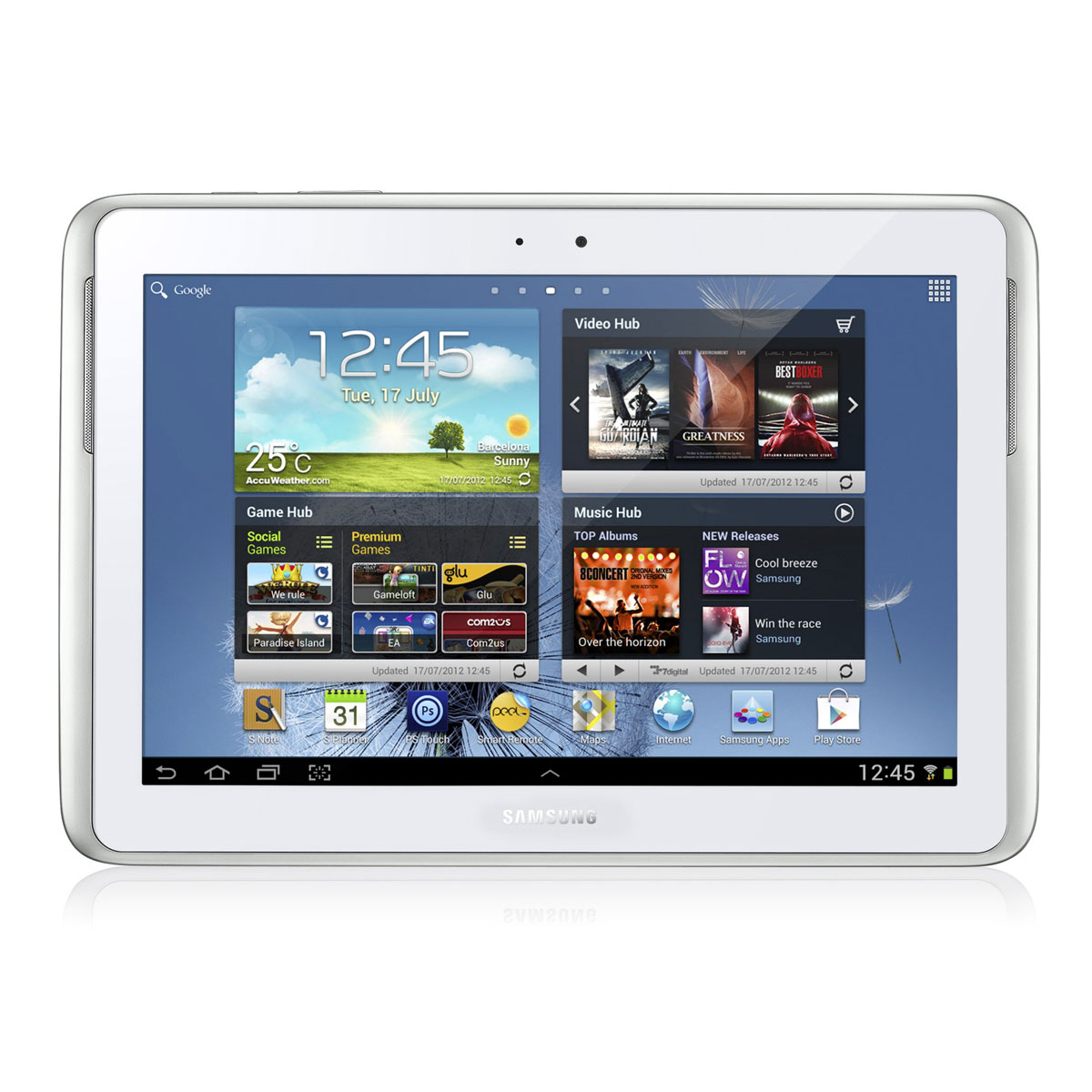 "Tablette tactile Samsung Galaxy Note 10.1 GT-N8000 Blanche 32 Go Tablette 3G/Wi-Fi avec écran tactile 10.1"" sous Android 4.0"