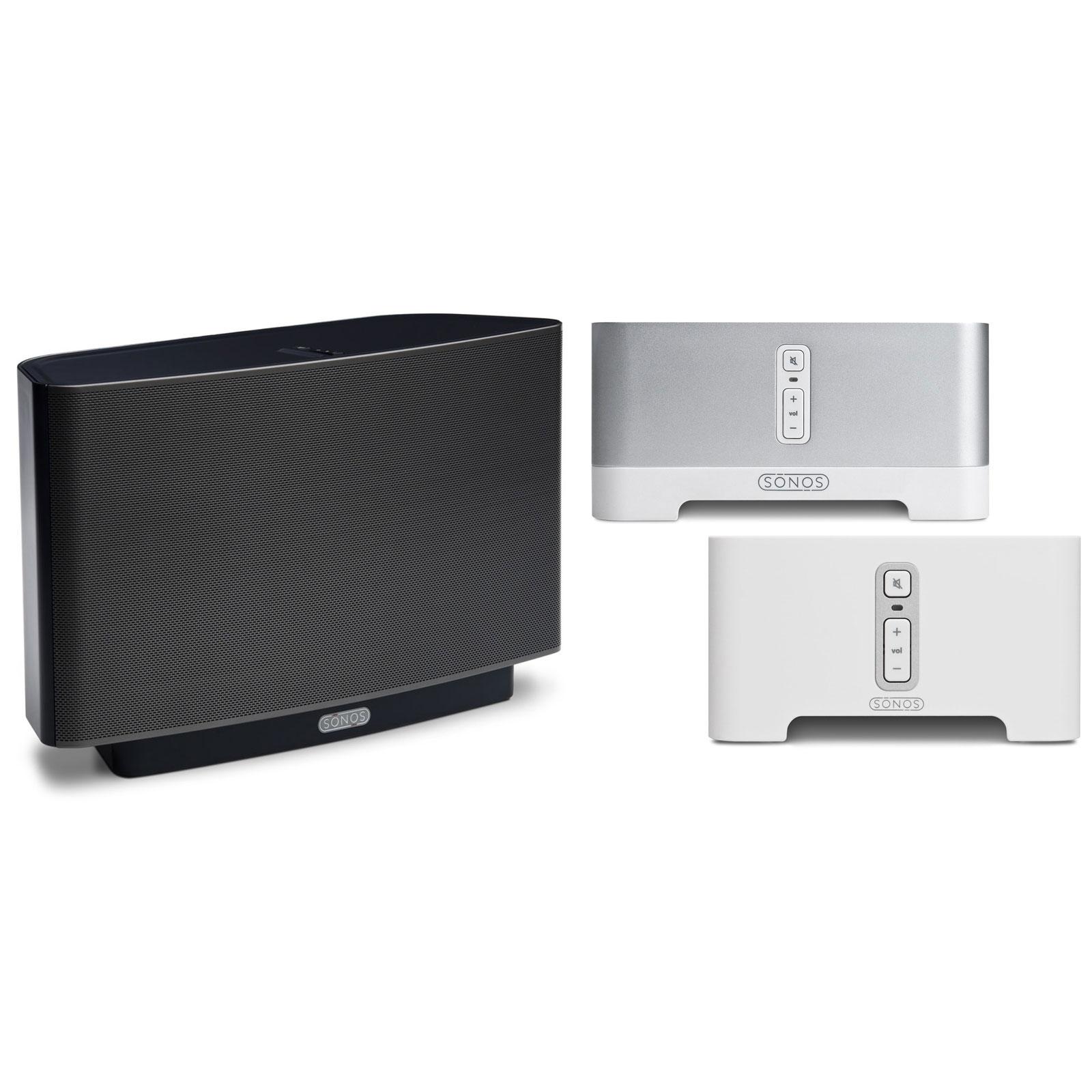 Serveur audio Sonos CONNECT AMP + CONNECT + PLAY 5 NOIR Solutions pour diffusion audio sans fil