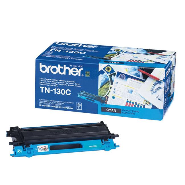 Toner imprimante Brother TN-130C Toner Cyan (1 500 pages à 5%)