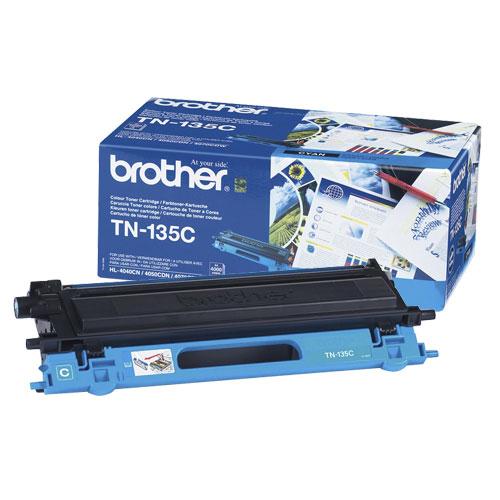 Toner imprimante Brother TN-135C Toner Cyan (4 000 pages à 5%)