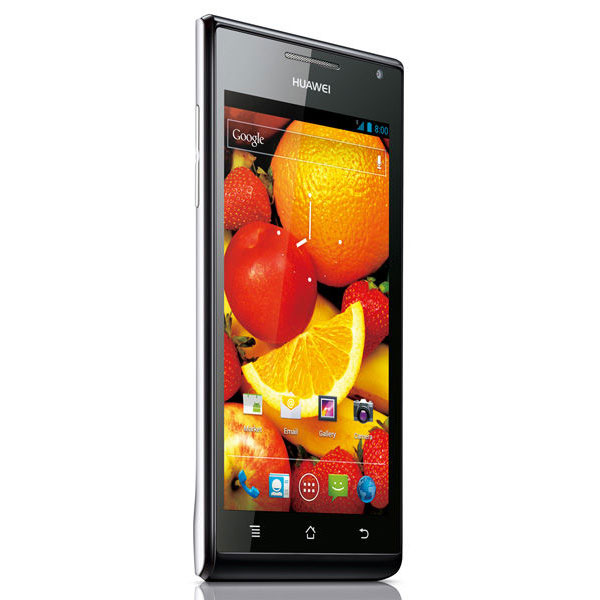 "Mobile & smartphone Huawei Ascend P1 Blanc Smartphone 3G+ avec écran tactile Super AMOLED 4.3"" sous Android 4.0"