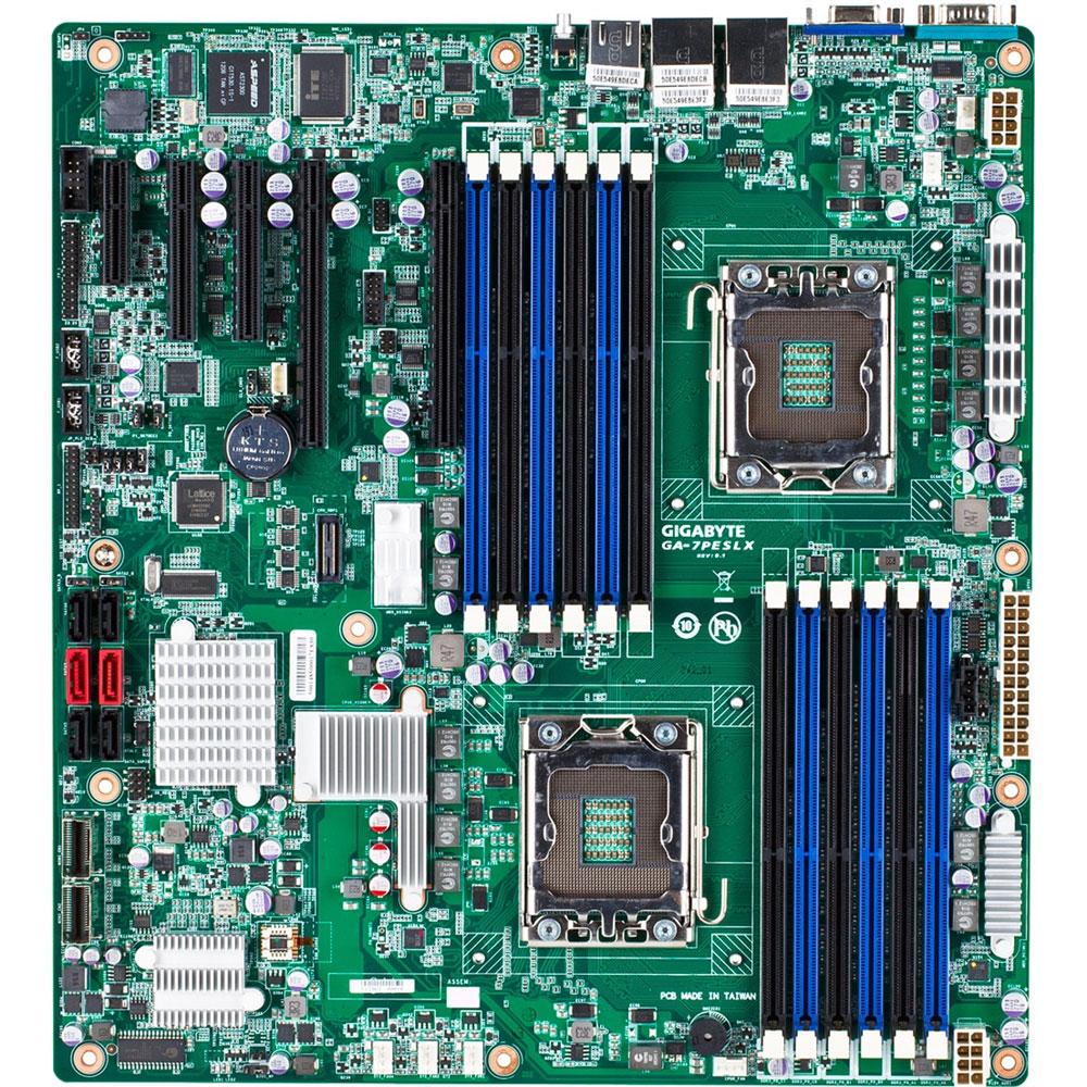 Carte mère Gigabyte GA-7PESLX Carte mère E-ATX 2x Socket 1356 Intel C602 - SAS/SATA 6Gb/s - 2x PCI Express 3.0 16x - 2x Gigabit LAN