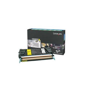 Toner imprimante Lexmark 00C5220YS Toner Jaune (3 000 pages à 5%)