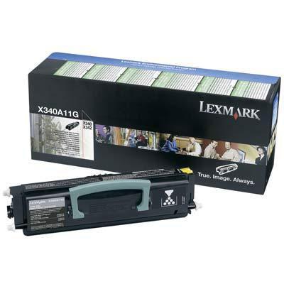 Toner imprimante Lexmark 0X340A11G Toner Noir (2 500 pages à 5%)