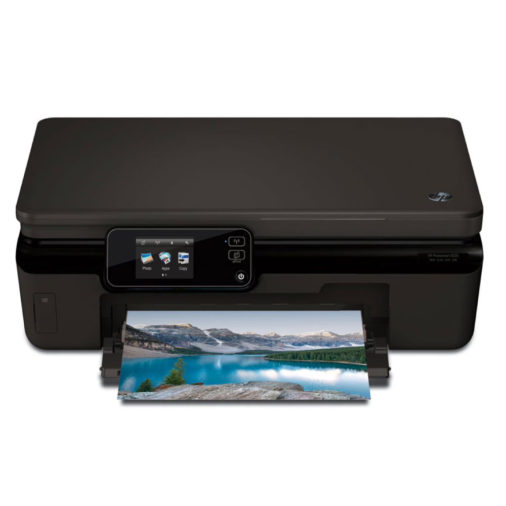 Imprimante multifonction HP Photosmart 5520 e-All-in-One Imprimante Multifonction jet d'encre couleur 3-en-1 (USB 2.0)