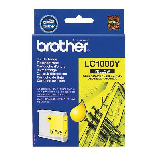 Cartouche imprimante Brother LC1000Y Cartouche d'encre jaune (500 pages à 5%)