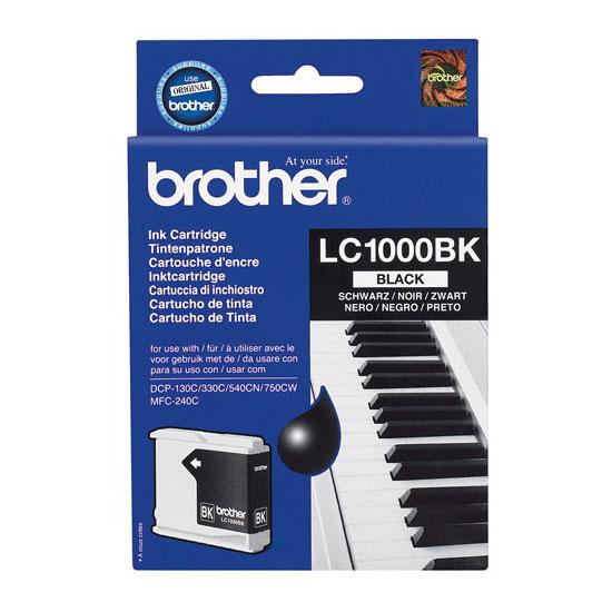 Cartouche imprimante Brother LC1000BK Cartouche d'encre noire (500 pages à 5%)