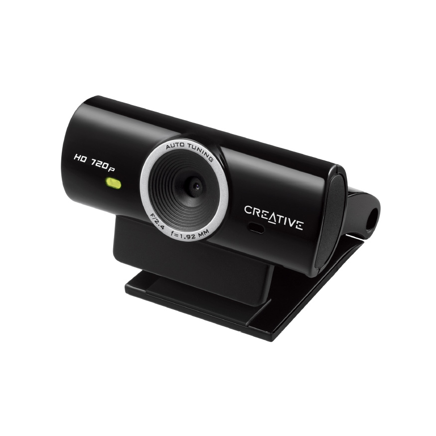 Webcam Creative Live! Cam Sync HD Webcam HD 720p (capteur vidéo 1 MP / capteur photo 3.7 MP) avec microphone anti bruit de fond intégré, compatible Facebook, YouTube, Twitch...