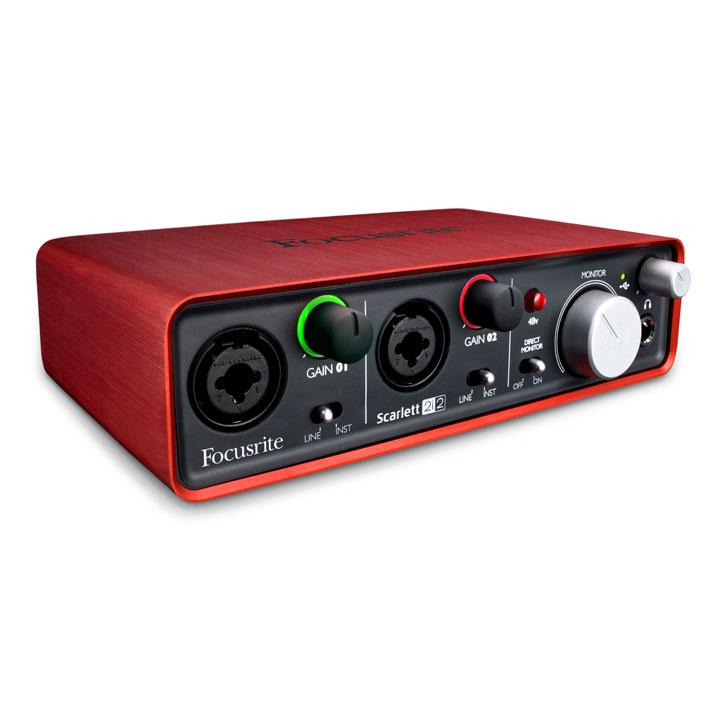 Interface Audio Focusrite Scarlett 2i2 Interface audio USB 2.0 2 x 2 avec 2 préamplis