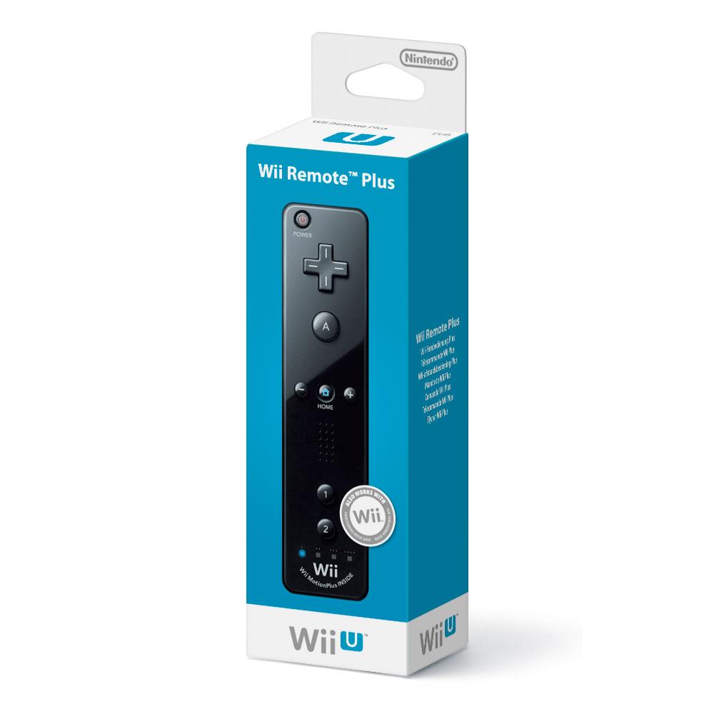 Accessoires Wii Nintendo Wii Remote Plus (coloris noir) Télécommande à technologie Wii MotionPlus (compatible Wii et Wii U)