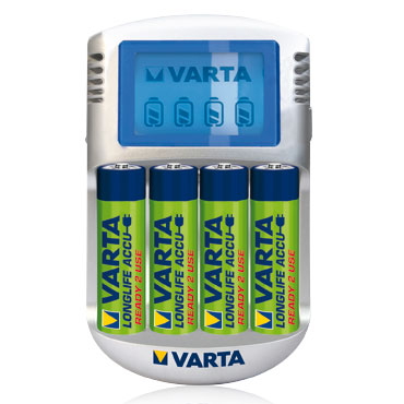 Varta lcd charger 4 piles aa chargeur de piles varta - Chargeur de piles intelligent ...