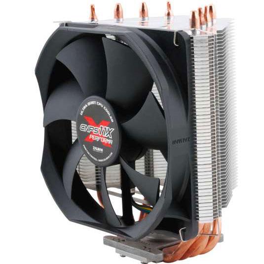 Ventilateur processeur Zalman CNPS11X Performa Ventilateur pour processeur (pour socket Intel 775 / 1150/1151/1155 / 1156 / 1366 / 2011 et AMD FM1 / AM2 / AM2+ / AM3 / AM3+)