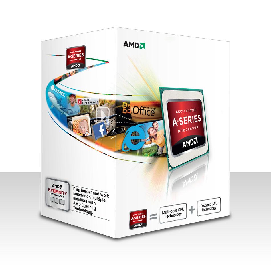 Processeur AMD A4-4000 (3.0 GHz) Processeur Dual Core socket FM2 Cache L2 1 Mo Radeon HD 7480D 0.032 micron (version boîte - garantie constructeur 3 ans)