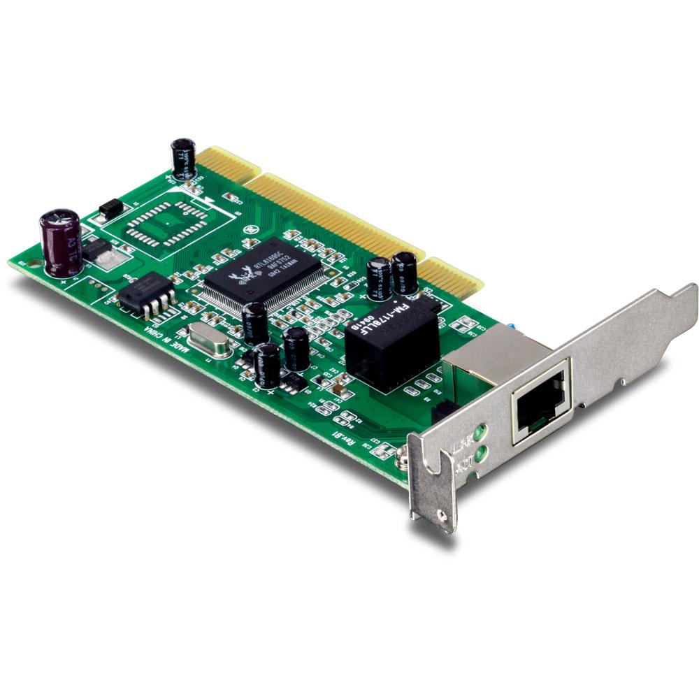 Carte réseau TRENDnet TEG-PCITXRL Carte réseau PCI Gigabit LAN 10/100/1000 Mbps