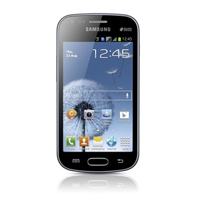 """Mobile & smartphone Samsung Galaxy S Duos GT-S7562 Noir Smartphone 3G+ Dual Sim avec écran tactile 4"""" sous Android 4.0"""