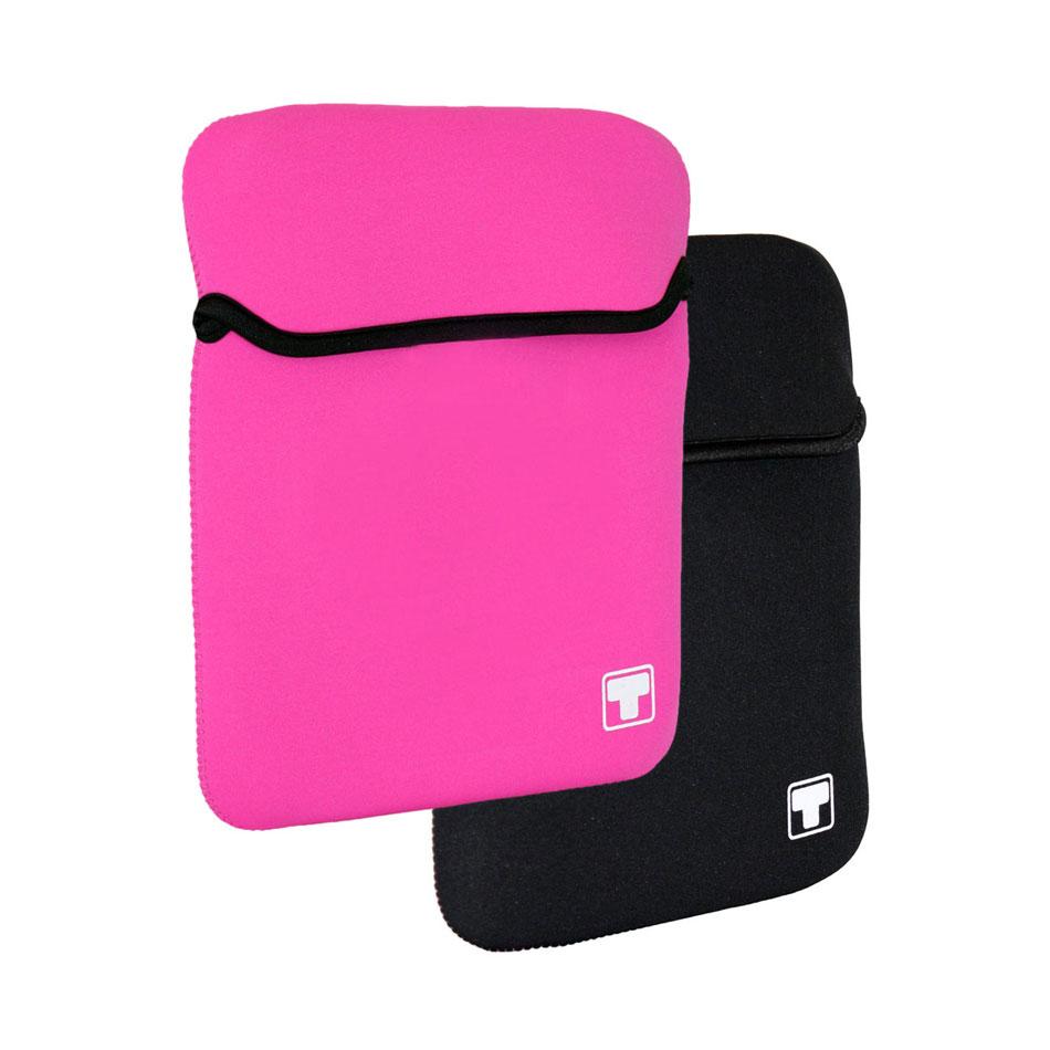 Sac, sacoche, housse White Crew HawAii 10.1'' (coloris rose ou noir) Housse réversible pour netbook ou tablette (jusqu'à 10.1'')