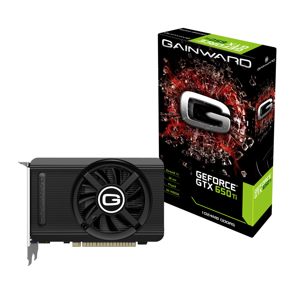 Carte graphique Gainward GeForce GTX 650 Ti 1 GB 1024 Mo DVI/Mini HDMI - PCI Express (NVIDIA GeForce avec CUDA GTX 650 Ti)