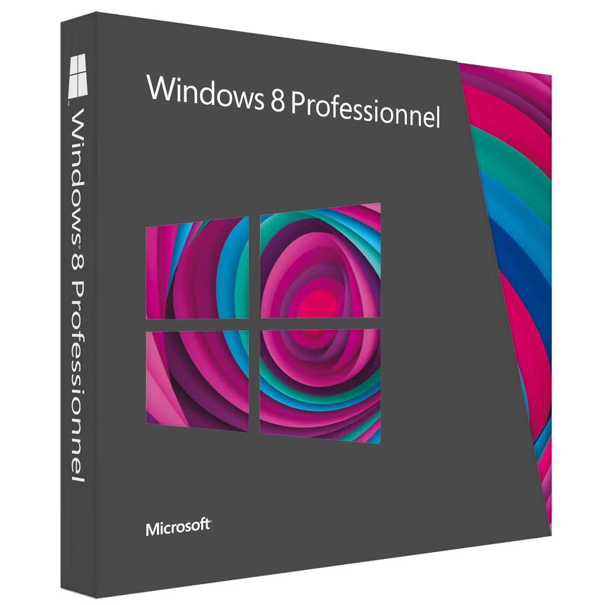 Windows Microsoft Windows 8 Professionnel - Mise à jour Microsoft Windows 8 Pro (français)