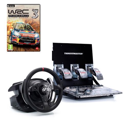 Volant PC Thrustmaster T500 RS (PS3/PC) + WRC 3 (PC) Volant et Pédalier + Jeu WRC 3 (PC)