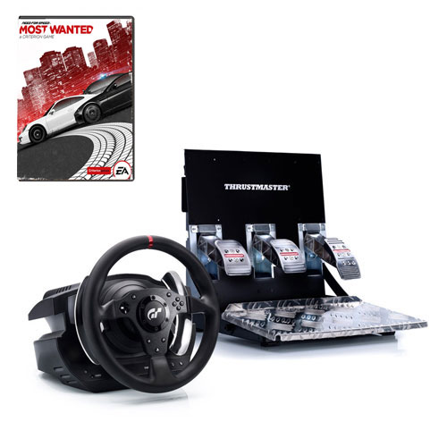 Volant PC Thrustmaster T500 RS (PS3/PC) + Need for Speed Most Wanted (PC) Volant et Pédalier + Jeu Need for Speed Most Wanted (PC)