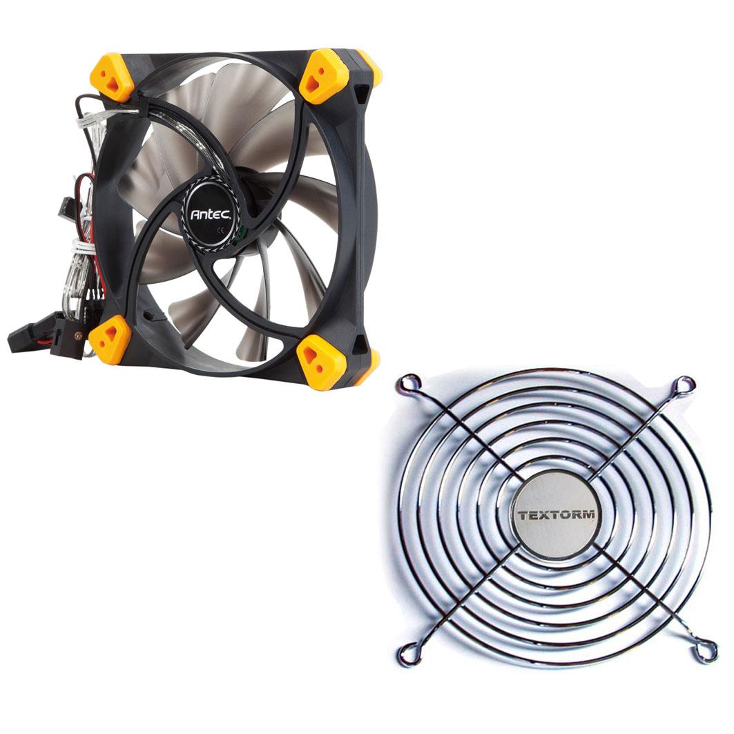 Ventilateur boîtier Antec TrueQuiet 120 + Grille de ventilateur 120mm Ventilateur de boîtier silencieux 120 mm à 2 vitesses + Grille de ventilateur 120mm