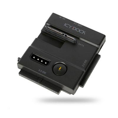 """Accessoires disque dur ICY DOCK MB981U3N-1SA Adaptateur pour disques durs IDE/SATA 2""""1/2 et 3""""1/2 sur port USB 3.0 (Noir)"""