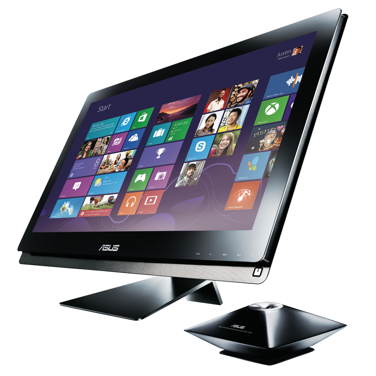 "PC de bureau ASUS EeeTop PC ET2701INTI-B023K Intel Core i7-3770S 8 Go 2 To NVIDIA GeForce 640M LED 27"" Tactile Lecteur Blu-ray/Graveur DVD Wi-Fi N/Bluetooth Tuner TNT Webcam Windows 8 64 bits"